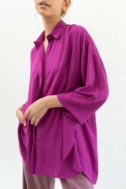 AZRA TOP IN MAGENTA